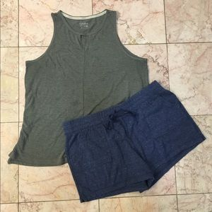 Calvin Klein Tank Top + Athletic Works Shorts